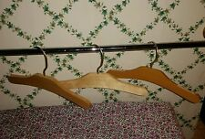 "FREE SHIP! Set-3 Vintage-Type-10"" Plain Wood Childrens Baby Shirt Dress Hangers"