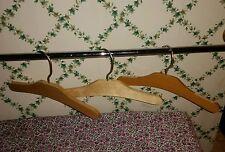 "FREE SHIP! Set-3 Vintage-Type-10"" Plain Wood Childrens Baby Shirt Dress Hangers"