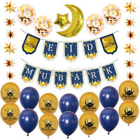 22Pcs/Set Ramadan Party Decorations Banner Latex Balloon Flag Bunting Background
