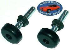 59-81 GM Fender Body Hood Adjuster Adjusting Support Bumper Bump Stop Bolt 2pc C
