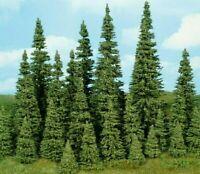 Heki 2150 Tannen Nadelbäume 10 Tannen mit Wurzelfuß Modellbäume 3 - 5 cm, Neu