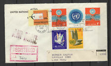 Nations Unies New-York Peru Lima 6 timbres sur lettre tampon date 1965/B5N-U31