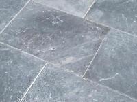 Travertin Boden Steine Platten Blue antik Naturstein fliesen Wohnrausch Muster