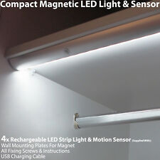 4x Rechargeable Magnétique Bande Lumière Led & Capteur Mouvement – Placard /