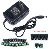 12V 2A AC/DC Adapter Charger Power Supply for CCTV DVR Camera LED light US STOCK