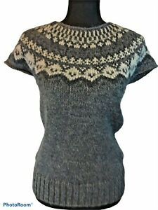Alpaca Fair Isle Knit Sweater Pullover