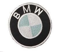 BMW Deportes de Motor Redondo Logo Motero Bordado con Plancha Insignia Parche