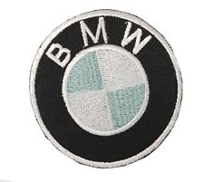 BMW Motorsports Rund Logo Biker Bestickt Zum Aufbügeln Abzeichen Abzeichen