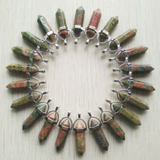 Fashion natural flower green Chakra Healing pillar Pendants 24pcs/lot Wholesale