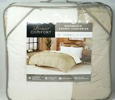 Premier Comfort Reversible Velvet and Sherpa Down Alternative Comforter TWIN Tan