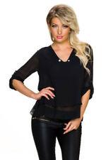 Maglie e camicie da donna neri viscosi business