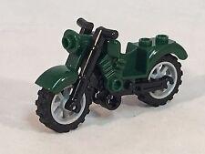 LEGO Motorcycle Dark Green Vintage Style Light Bluish Gray Wheels 75917