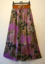 New Miss Celine Maxi Skirt, Floaty Chiffon Tropical Print, Size M