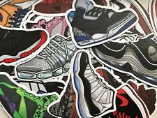 Lot of 15 - NIKE Air JORDAN  SHOE VINYL SNEAKER STICKERS DECALS