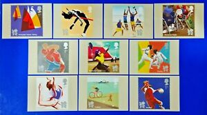 PHQ Stamp Postcards Set of 10 No.352 Sport Olympic & Paralympic Games 2011 MP9