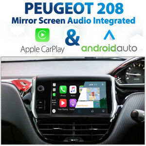 Peugeot 208 Factory Audio Integrated Apple CarPlay & Android Auto retrofit Kit