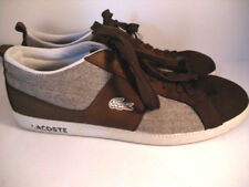 LaCoste Sport Mens size 11 Brown Leather Casual Walking Shoes Fasion Sneakers