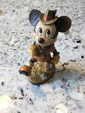 Rare Vintage Anri Disney Mickey Mouse 6� woodcarving figurine Italy. Free Ship!