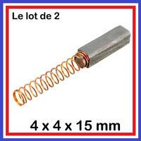 Lot de 2 Balais de Charbon 12 x 4 x 4 mm Moteur perceuse, outillage electroporta