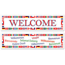 2x 5ft Sports Multi Nation International Flag Welcome Party Decoration Banner