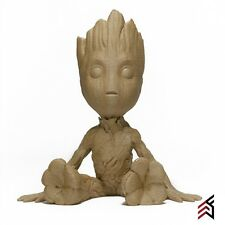 Real WOOD Baby Groot 3D Printed Paintable Stainable Guardians Of The Galaxy 2