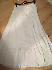 Stunning White M&S Gypsy Boho Festival Skirt New Size 14