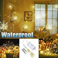 200 LED Hanging Lamp Starburst Fireworks Fairy String Light Xmas Party Decor D