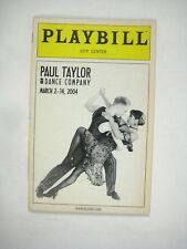 Paul Taylor Dance Company Playbill 2004 City Center Viola Richard Chen See Tice