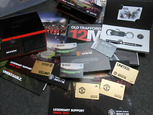 Used Manchester United Season Tickets with some complimentary items from MUFC
