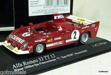 Minichamps 1/43 - 400 751202 ALFA ROMEO 33 TT 12 WINNER 1000Km Spa 1975