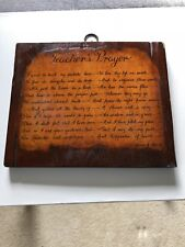 A Teacher's Prayer Vintage Wooden Plaque