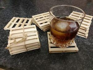 Wooden Coasters Mini Pallet  Mat Coaster Tea Coffee Drinks  Holder Table Decor
