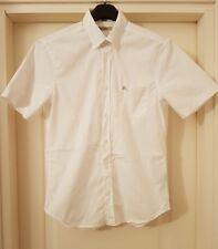 BURBERRY BRIT Camicia Maniche Corte Uomo SiZe ( M ) White Shirt Like New