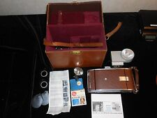 Vintage Polaroid Speedliner Land Camera Model 95B WITH ACCESSORIES 34E