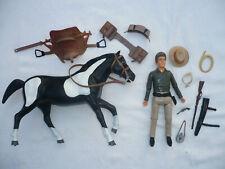 PALITOY Bonanza 20cm Cowboy Action Figur LITTLE JOE CARTWRIGHT MIT PFERD
