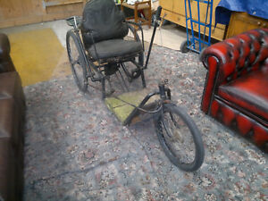 Antique Classic Rare Self Propelled Carriage / Invalid Vehicle / Vintage Bike