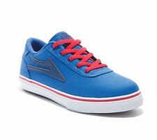 Lakai Manchester Royal Blue Canvas Boys Trainers sneakers size UK13 / US1