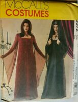 McCall's Pattern 3372 Gothic Dress Costume Misses 6 8 10 12 Uncut