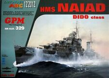 British Cruiser HMS Naiad paper model 1:200 huge 78cm