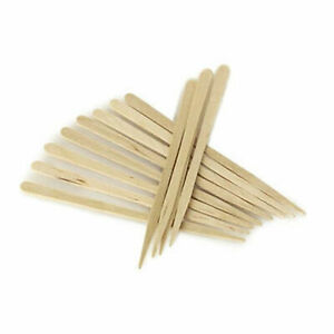 Eyebrow Small Wooden Wood Tongue Depressors Spatulas Wax Waxing Tattoo Sticks