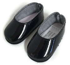 Black Shiny Dress Shoes for 14.5 inch American Girl Wellie Wishers Wisher Dolls