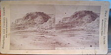 Yellowstone Park Stereoview JUPITER TERRACES Mammoth Hot Spgs New Edu Canvassers