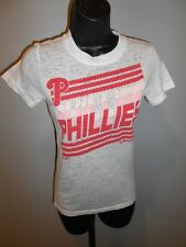 NEW Philadelphia Phillies Girls Medium M 10/12 White Adidas Tissue Tee Shirt 8DG