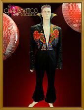 "Gemstone ELVIS eagle pattern 70'retro-styled Vegas ""Lounge Lizard"" dance costume"