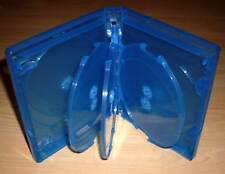 5 Blu Ray Hüllen Achtfach 8fach 8-fach blau Blu-Rays Blue Ray 8er Case Neu