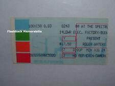 ROGER WATERS 1987 Concert Ticket Stub THE SPECTRUM PHILADELPHIA Pink Floyd RARE