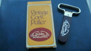 """"""" VINTAGE CORK PULLER  """" by ST JULIAN  MICHIGAN WINES  BOXED WITH SHEATH LOOK"""