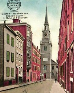 Vintage Postcard - 1908 Christ Church Old North Boston Massachusetts #8230