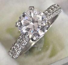 Round Diamond Engagement Ring - 2 Carats Platinum Diamonds Down Shank - HD VIDEO