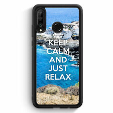Keep Calm And Just Relax Huawei P30 Lite Silikon Hülle Motiv Design Spruch Co...